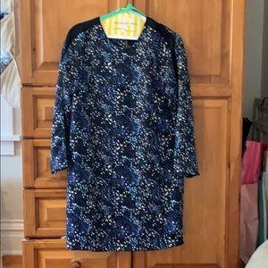 3/4 sleeve printed women's dress